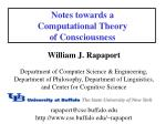 notes towards a computational theory of consciousness