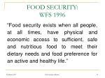 food security wfs 1996