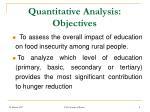 quantitative analysis objectives