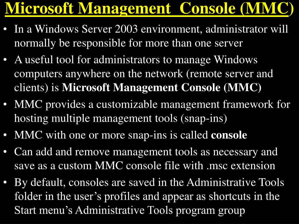 microsoft management console mmc l.