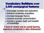 vocabulary builders over 3 000 pedagogical features
