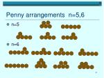 penny arrangements n 5 6