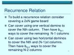 recurrence relation1
