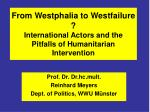 from westphalia to westfailure international actors and the pitfalls of humanitarian intervention