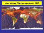 international flight connections 2010