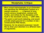 westphalia critique