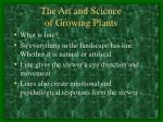 the art and science of growing plants2