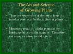 the art and science of growing plants6