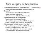 data integrity authentication