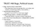 trust hw bugs political issues
