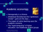academic econom ies