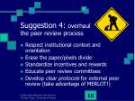 suggestion 4 overhaul the peer review process