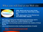 what you will find at our web site