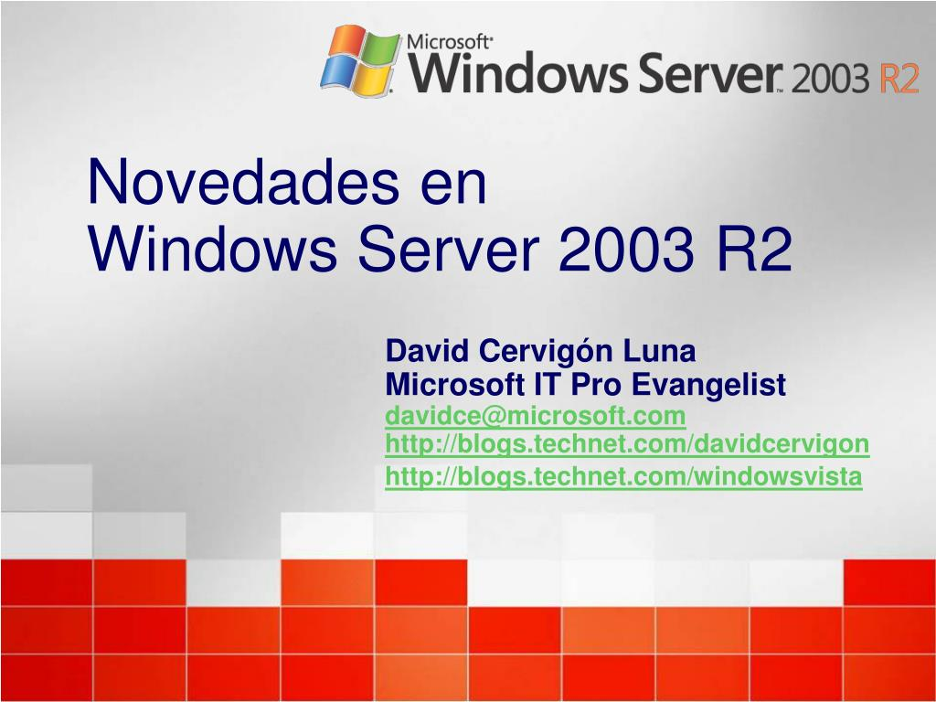 novedades en windows server 2003 r2 l.