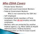 who osha covers