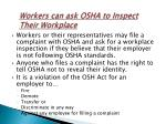 workers can ask osha to inspect their workplace