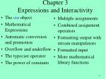 chapter 3 expressions and interactivity