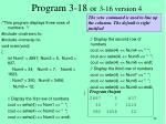 program 3 18 or 3 16 version 4