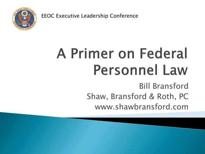 a primer on federal personnel law n.