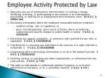 employee activity protected by law
