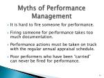 myths of performance management