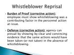 whistleblower reprisal