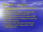 new work 2012 13