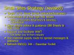 small sites strategy revised