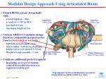 modular design approach using articulated boom