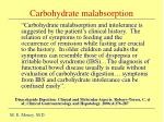 carbohydrate malabsorption