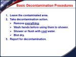 basic decontamination procedures