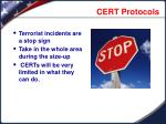 cert protocols