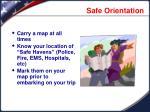 safe orientation