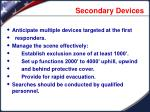 secondary devices