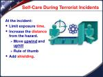 self care during terrorist incidents