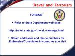 travel and terrorism