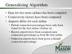 generalizing algorithm