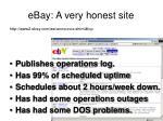 ebay a very honest site