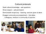 cultural protocols