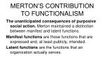 merton s contribution to functionalism