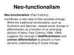 neo functionalism