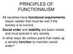 principles of functionalism