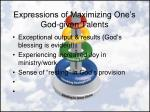 expressions of maximizing one s god given talents