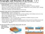 geography and structure of an ocean 1 of 3