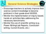 general science strategies