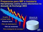 prepararse para imf e instalarlo herramientas contra correo electr nico no deseado de exchange 20031
