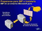 prepararse para imf e instalarlo imf en un entorno microsoft puro