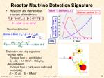 reactor neutrino detection signature