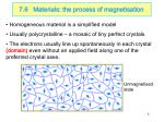 7 6 materials the process of magnetisation
