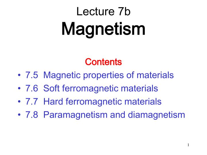 lecture 7b magnetism n.